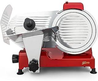 H.Koenig Trancheuse électrique à jambon, viande, saucisson, charcuterie MSX254, professionnelle, précise, épaisseur de la ...