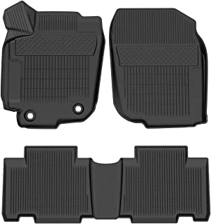 oEdRo Floor Mats Fit for 2013-2018 Toyota RAV4 (Standard Models ONLY), Custom Fit Front & 2nd Row Full Set Liner - Black All Weather Protection