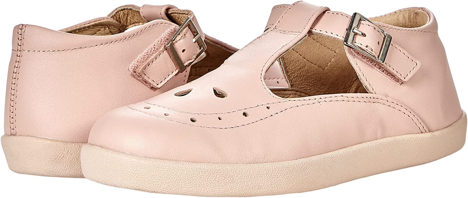 Old Soles Girl's Excellent 5011 Royal LeatherT-Strap Very popular Premium Sneaker Shoe
