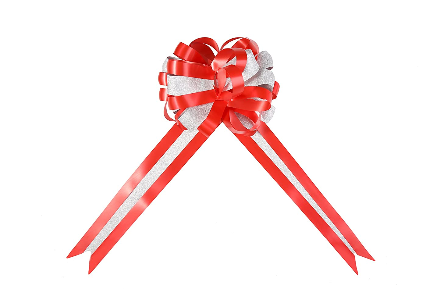 Large Gift Wrap Pull Bows for Christmas,Birthday Party,Wedding,Valentine's Day, Anniversaries and Floral Decoration (Red)