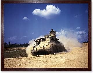 Palmer War WWII USA M3 Lee Tank 1942 Photo Art Print Framed Poster Wall Decor 12x16 inch