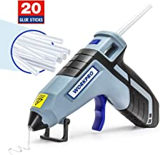 WORKPRO Cordless Hot Glue Gun, Fast Preheating Glue Gun Kit with 20 Pcs Premium Glue Gun..