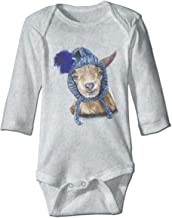 SHINEOO Lawson The Goat Baby Clothes Cotton Polo Long-Sleeve Bodysuit Unisex