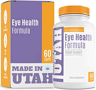 Eye Health Formula With Essential Vitamins, Minerals and Natural Herbs Including Lutein - Supports Overall Eye, Retina & M...