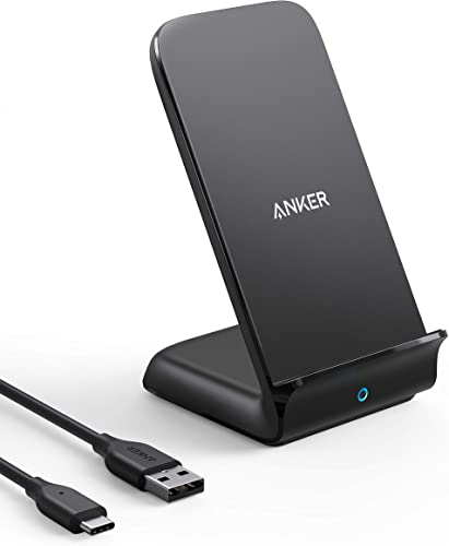 discount Anker 15W outlet sale Max Wireless Charger with USB-C, PowerWave 7.5 Stand, Qi Certified Fast Charging for iPhone 12, 12 Pro Max, SE, 11, 11 Pro, 11 Pro Max, Galaxy S20 S10 & More (No AC 2021 Adapter) outlet sale