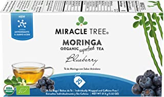 Miracle Tree - Organic Moringa Superfood Tea, 25 Individually Sealed Tea Bags, Blueberry