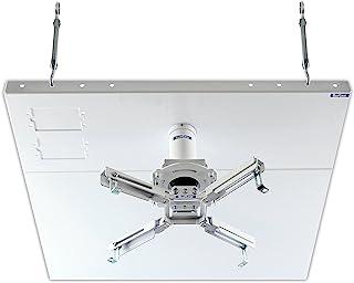 QualGear Pro-AV QG-KIT-S2-3IN-W Projector Mount Kit Accessory Suspended Ceiling 2'x2' Adapter, White