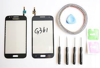 JRLinco Para Samsung Galaxy Core Prime G361 G361F Pantalla Táctil de Cristal,Touch Screen Digitizer Outer Glass Replacement (Sin LCD Display) Para Negro + Herramientas y Adhesivo