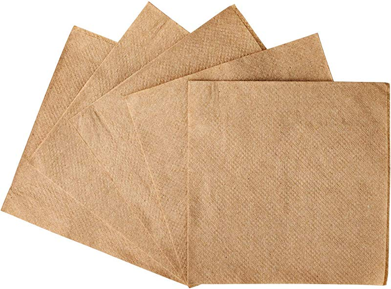 Zenco Beverage And Cocktail Napkins 1000 Pack 4 5 X 4 5 Ideal For Birthday Cocktail Dinner Lunch Party Wedding Kraft 1000