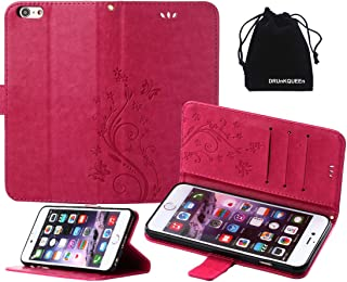 DRUnKQUEEn iPhone 6s Plus Case, iPhone 6 Plus Case, Premium Quality Protective Flip Folio PU Leather Cover Wallet Phone Holder with Foldable Kickstand for Apple iPhone 6Plus / iPhone 6sPlus