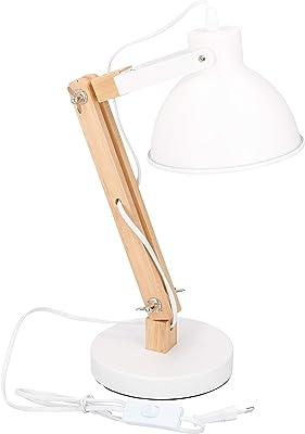Grundig 07029 Lampe Tischlampe Schreibtischlampe Nachtlicht Holz Metall Design