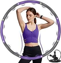DUTISON Hoepel voor volwassenen, fitness voor gewichtsverlies en massage, hoepel voor volwassenen en kinderen, een 6-8-del...