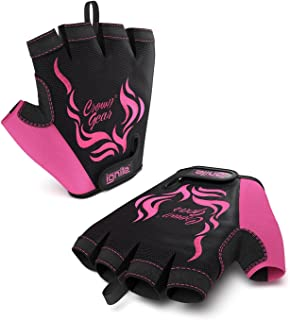 Ignite - Power Weightlifting Gloves for Women with Stretch Mesh and Adjustable Wrist Closure and Protective Palm …