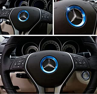 L&U Cubierta Central de Aluminio del Volante de aviación para Mercedes-Benz GLA/GLK