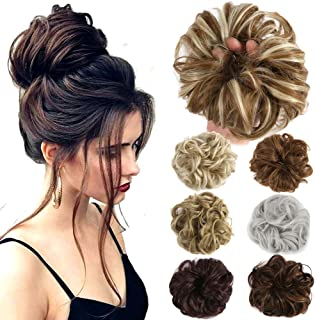 Hair Bun Extensions Wavy Curly Messy Donut Chignons Hair Piece Wig Hairpiece
