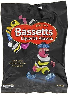 Bassett Liquorice Allsorts 190g (Paquete de 6)