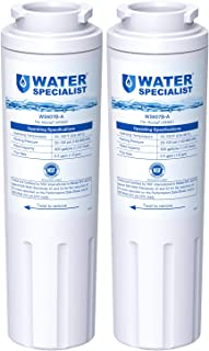 Waterspecialist NSF 53&42 Certified UKF8001 Refrigerator Water Filter, Replacement for Maytag UKF8001P, Whirlpool EDR4RXD1 EveryDrop Filter 4 PUR 4396395 Puriclean II UKF8001AXX-200 469006 (Pack of 2)
