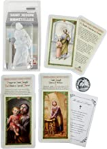 Saint Joseph Statue Home Seller Kit - 3.5 Inch Statue with Laminated St Joseph Prayer Card, Catholic Pocket Token Coin, Th...