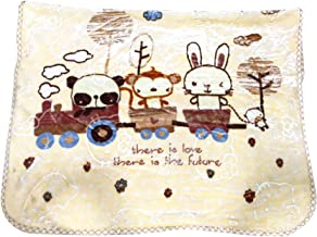 Little Swag Ultra Soft Double Side Printed Woolen Fleece Sleeping Blanket Wrapper for Newborn Baby, 56 inches.