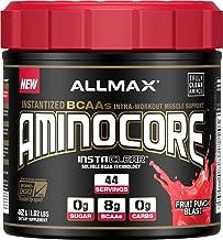 ALLMAX Nutrition Aminocore BCAAs, 100% Pure 45:30:25 Ratio, Fruit Punch, 462 g