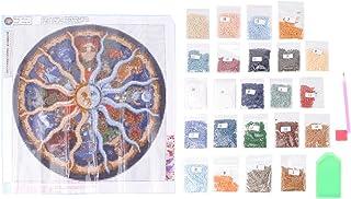 SUPVOX Kit de pintura de bordado de diamantes 5d diy pintura diamante casero punto de cruz hechos a mano decoraci/ón de la pared kits de artesan/ía de impresi/ón