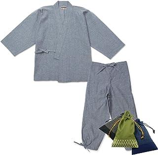 IKISUGATA 綿麻楊柳作務衣(めんあさようりゅうさむえ)
