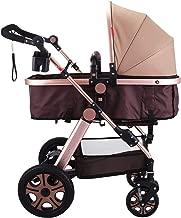 Banpusama - Cochecito de bebé plegable, ligero, fácil de usar, sistema plegable, cochecito de bebé recién nacido, de aleación de aluminio, cochecito de bebé antigolpes, de alta visión