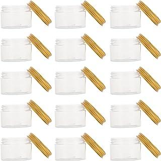 Beaupretty 16Pcs Maquiagem Vazio Frascos de Recipientes Com Tampas de Plástico Caixas para Cremes Loção Toners Recarregáve...