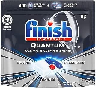 Finish Quantum 82块 洗碗机洗涤剂,强力清洁球、洗碗机洗涤片、洗碟剂 洁净&光亮