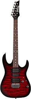 Best Ibanez 6 String Solid-Body Electric Guitar, Right, Transparent Red Burst (GRX70QATRB) Reviews
