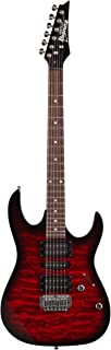 Ibanez 6 String Solid-Body Electric Guitar, Right, Transparent Red Burst (GRX70QATRB)