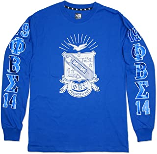 Phi Beta Sigma Fraternity Mens Long Sleeve Tee Royal Blue