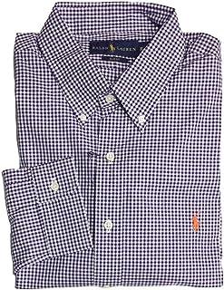 2247cca0 Polo Ralph Lauren Men's Long Sleeve Gingham Shirts, Slim Fit X-Large, Purple