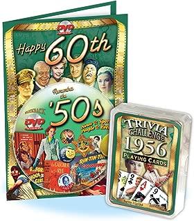 Flickback Media, Inc. Birthday Combo: 1956 Trivia Playing Cards & 1950's Decade DVD