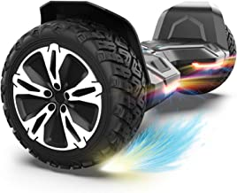 Gyroor Warrior 8.5 inch All Terrain Off Road Hoverboard with Bluetooth Speakers and LED Lights, UL2272 Certified Self Bala...