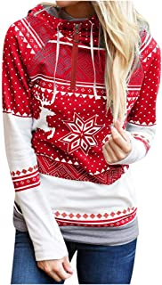 LEKODE Sweatshirt Women's Hoodie Printed Long Sleeve