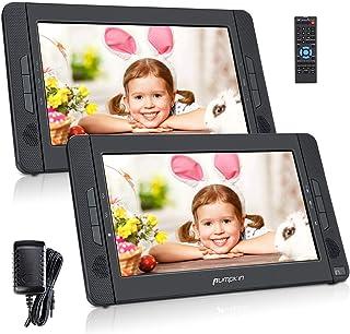 PUMPKIN Double Ecran DVD Voiture pour Enfant 10,1 Pouce (Un Lecteur DVD et Un Moniteur)..
