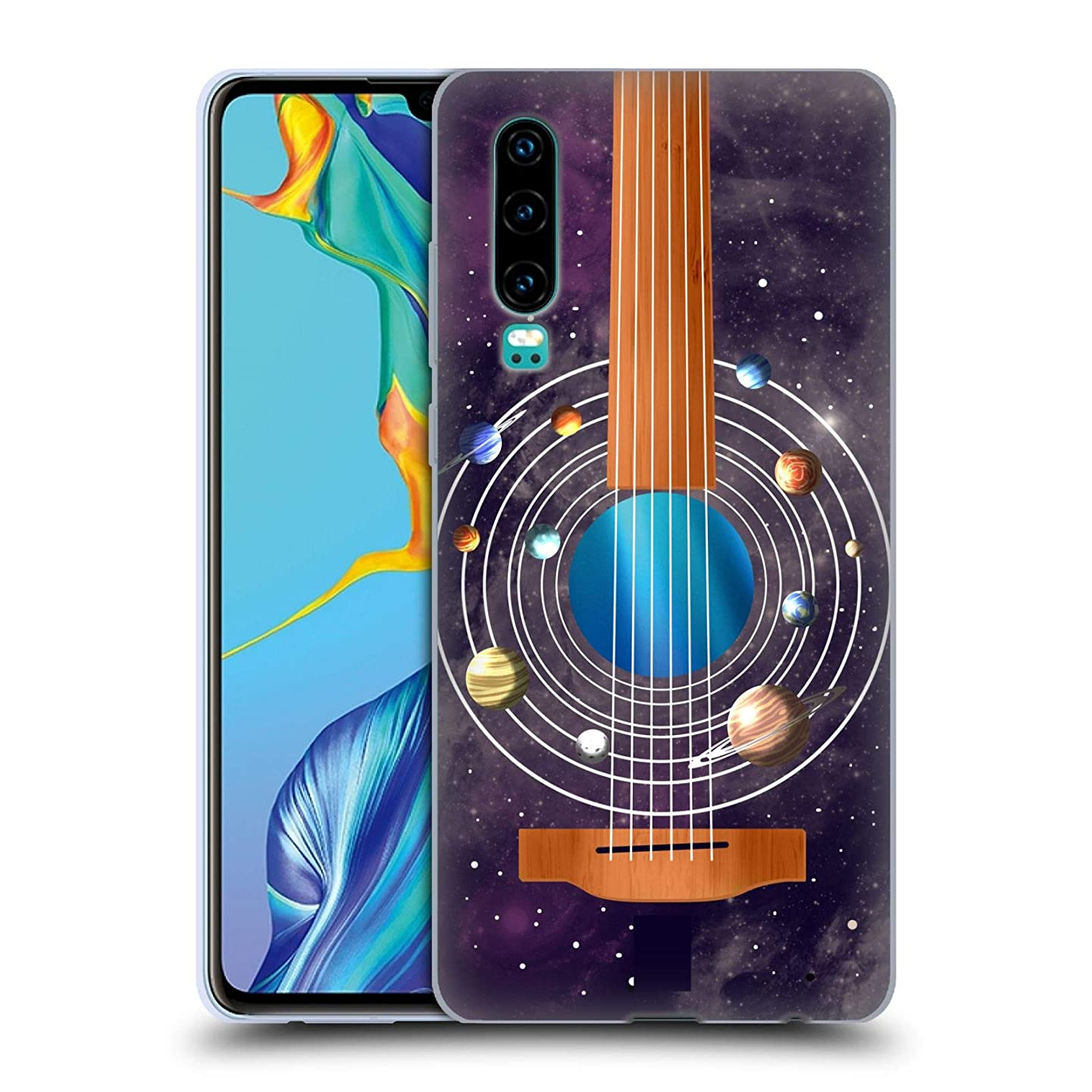 Head Case Designs Guitar Space Music Soft Gel Case Compatible for Huawei P30
