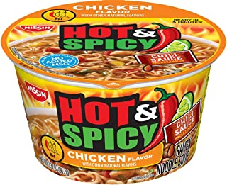 Nissin Bowl Noodles Hot and Spicy Chicken Flavor 3.32 oz each (12 Cups)