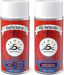 S.Mile GmbH Kunstleer verf vinyl verfspray geschikt voor BMW palladiumzilver palladium-zilver - set 1 kunstleerverzorging...