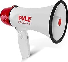 Pyle Megaphone Speaker PA Bullhorn - 20 Watts & Adjustable Vol Control w/ Built-in Siren & 800 Yard Range for Football, Ba...