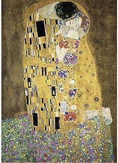Jqchw Cómica rompecabezas de alta dificultad animado El beso de Gustav Klimt rompecabezas 1000 regalos pedazos de madera del rompecabezas colección del cartel de rompecabezas for adultos juguetes de l