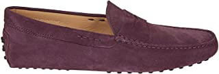 Luxury Fashion | Tod's Men XXM0E000010RE0R807 Purple Suede Loafers | Spring-summer 20