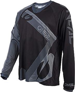 ONeal   Camisa de Motocross Manga Larga   MX MTB Mountainbike   Material Ligero, Corte ergonómico para un Ajuste Element FR Jersey   Niños   Negro   ...