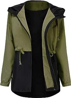 Waterproof Raincoat,Women Outdoor Hooded Rain Jacket Long Trench Coats Lined Windbreaker (S-XXL)