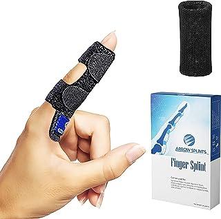 Arrow Splints Finger Splint for Trigger Finger, Mallet Finger, Arthritis Pain, Sport Injuries, Basketball, Volleyball, Bow...