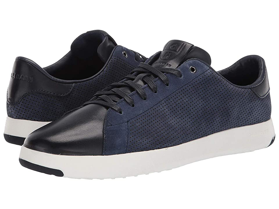 Cole Haan GrandPro Tennis Sneaker (Marine Blue Suede/Navy Ink) Men
