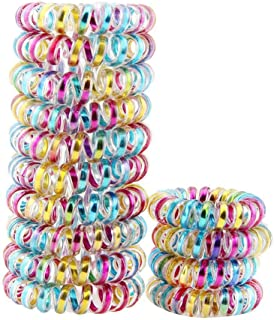Whatyiu 10PCS/Box Women Scrunchies Telephone Wire Line Hair Rubber Bands Elastic Hairbands Rope for Girls Hair Accessories(Multicolor1)