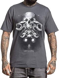 Sullen Men's Julian Badge Premium Short Sleeve T Shirt Charcoal Gray 3XL