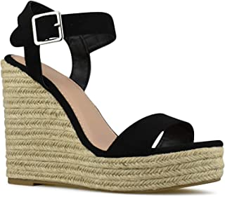 fa7cc9e2f45 Premier Standard - Women s Peep Toe Front Zipper Espadrille Wedge Sandals